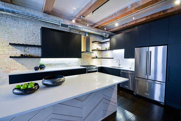 Stunning Island in renovated Winnipeg kitchen.