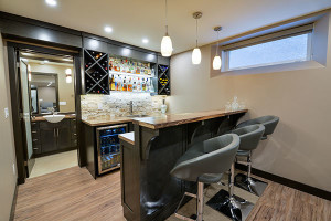 Bar view in finished basement.